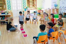 AN ENGLISH LESSON WITH BIANCA ABOUT THE HUNGRY CATERPILLAR  AT MAGO CLASS OF LY THAI TO 2 KINDERGARTEN